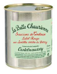 PROMO DU MOIS Saucisses de Toulouse Label Rouge aux Lentilles vertes du Berry