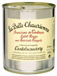 Saucisses de Toulouse Label Rouge aux haricots lingots