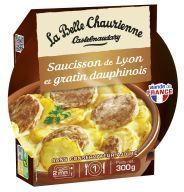 Saucisson de Lyon et gratin dauphinois